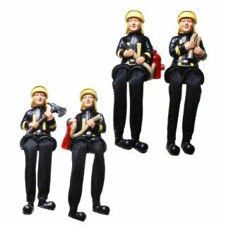 Feuerwehrmann mit Schlenkerbeinen