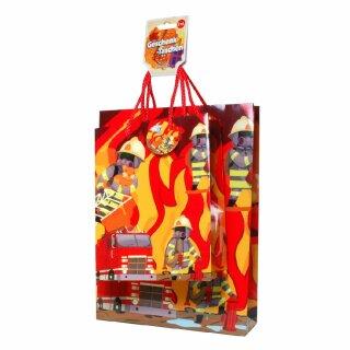"""Geschenktaschen-Set """"Feuerwehr"""" 2-tlg."""
