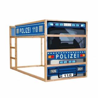 Polizei-Aufkleber für Bett KURA von IKEA