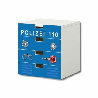 Polizei-Aufkleber für Kommode STUVA von IKEA