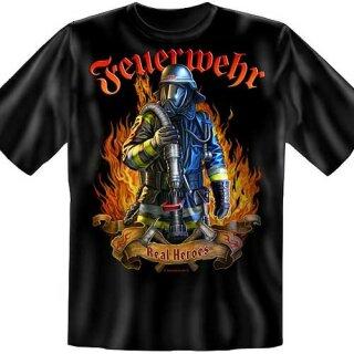 "Spaß-Shirt ""Real Heroes"" L"