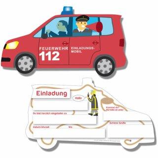 Einladungskarten - Motiv Feuerwehr 1