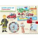 Kreativ Party Set - Motiv Feuerwehr 1